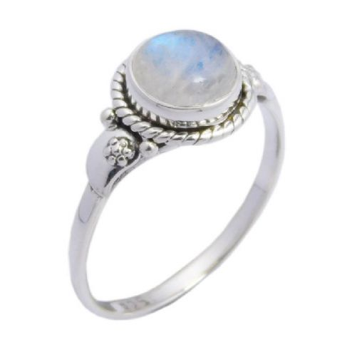 Rainbow Moonstone Ring ~ Sterling Silver